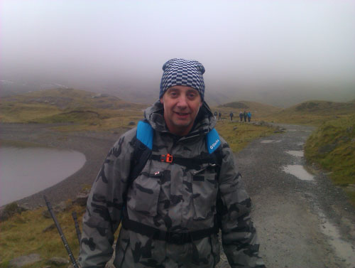 walking up Snowdon