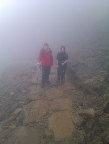 a misty route up Snowdon