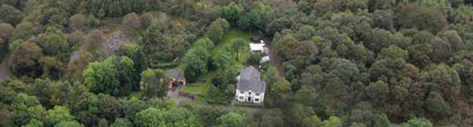Aerial view of Glyn Peris Guest House