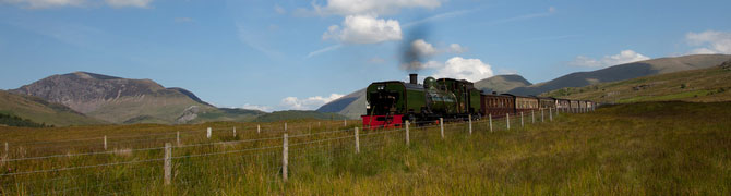 A view of the Welsh Highland Steam Train